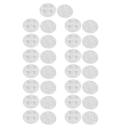 30 Pcs Transparent PMMA High Definition Optical Lens for 4 x  Bulbs Smashbox High Definition Healthy