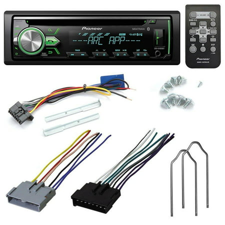 PIONEER DEH-X4900BT CD RECEIVER AFTERMARKET CAR STEREO RADIO INSTALL KIT WIRE HARNESS + RADIO REMOVAL TOOL FOR SELECT FORD MAZDA NISSAN
