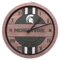 Michigan State Spartans Metal Wall Clock