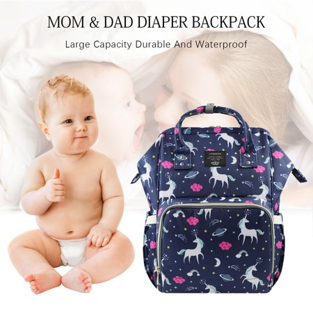 Unicorn Cloud Diaper Nappy Backpack, Multifunction Waterproof Travel Bag, Large Capacity, Mommy Baby Care