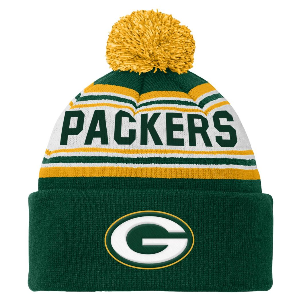 Green Bay Packers Youth NFL Cuffed Knit Hat w  Pom by Outerstuff
