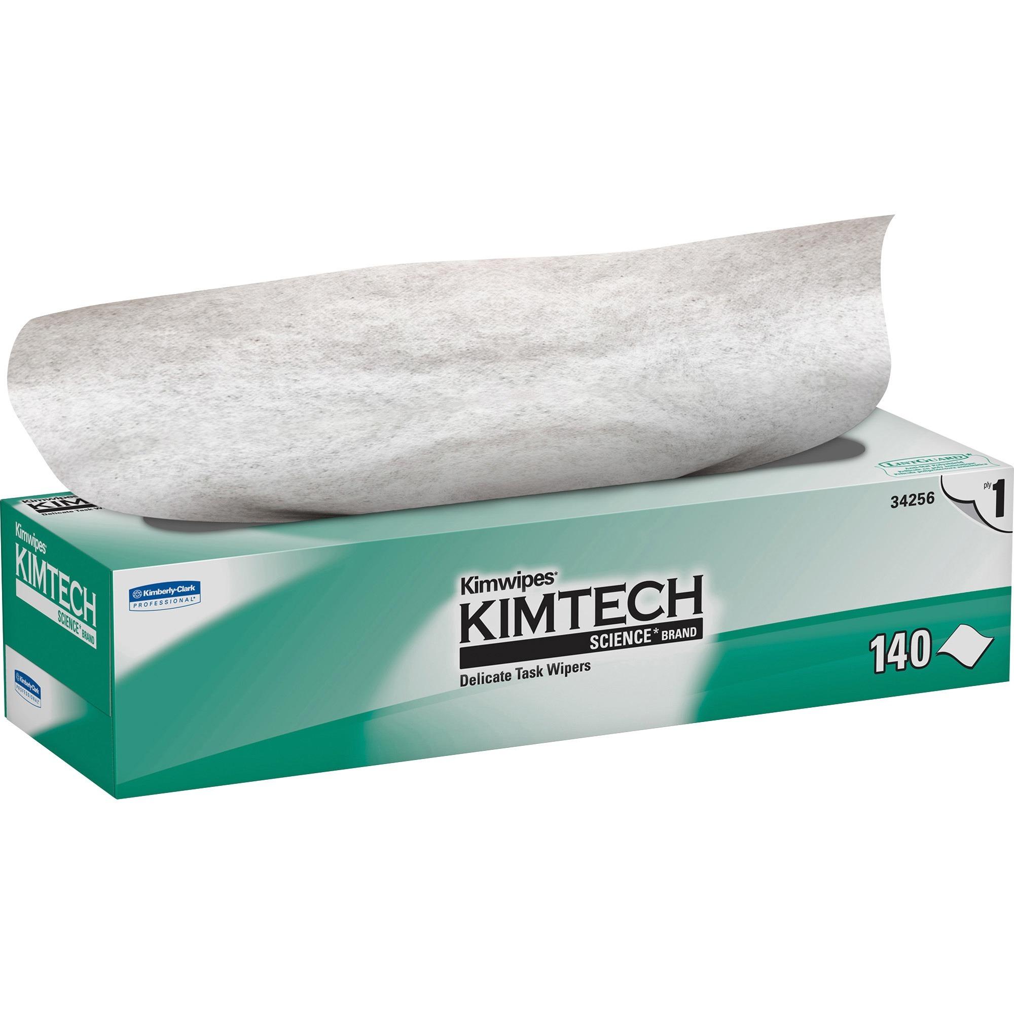 Kimberly-Clark, KCC34256, KimWipes Task Wipers, 140 / Box