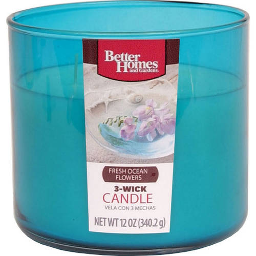 Better Homes and Gardens 12-Ounce Candle, Fresh Ocean Flowers