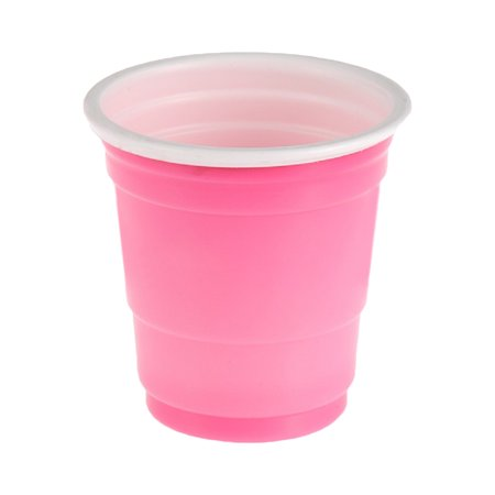 Halloween Mixed Drinks And Shots (20 Festive Short Fun Shot Plastic Cups Colored Pink Party Drinks 2 oz)