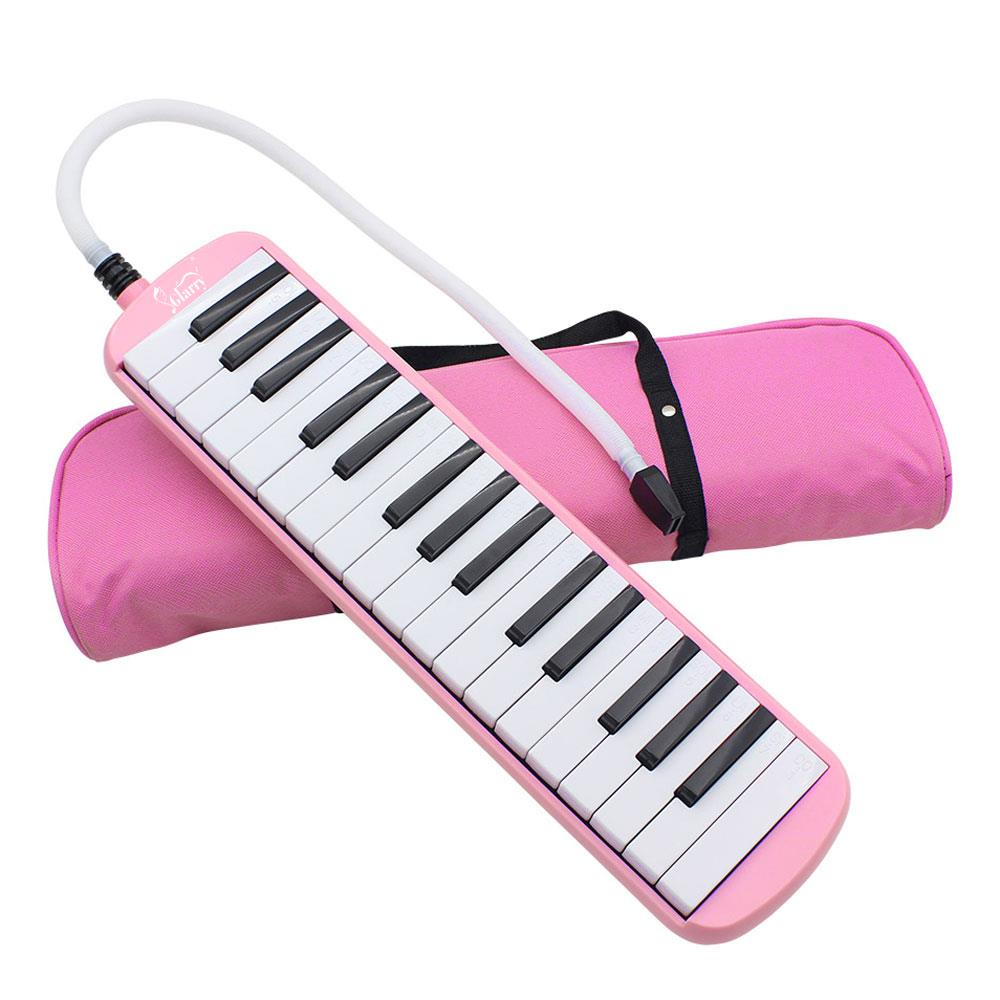 Glarry Pink Professional 32 Keyboard Harmonica Instrument - Also Called Mouth Organ, Wind Piano