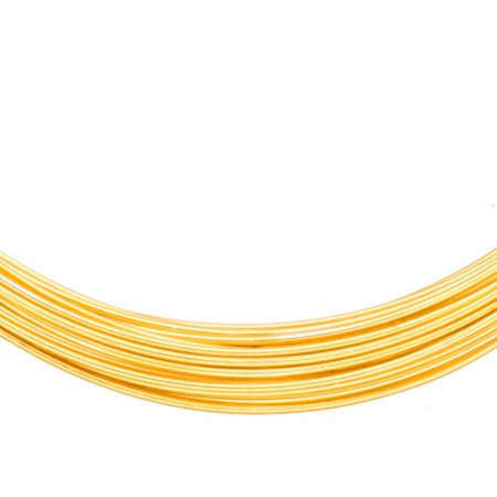 Aluminum Beading Wire, Anodized Gold 17 Gauge 48-foot coil jewelry wire