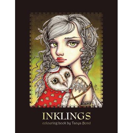 Single Creature Bond - Inklings Colouring Book by Tanya Bond : Coloring Book for Adults & Children, Featuring 24 Single Sided Fantasy Art Illustrations by Tanya Bond. in This Book You Will Find Fairies, Pixies & Mermaids with Their Companions - Dragons, Owls, Cats, Bunnies, Birds, Animals & Other Charming Creatures.