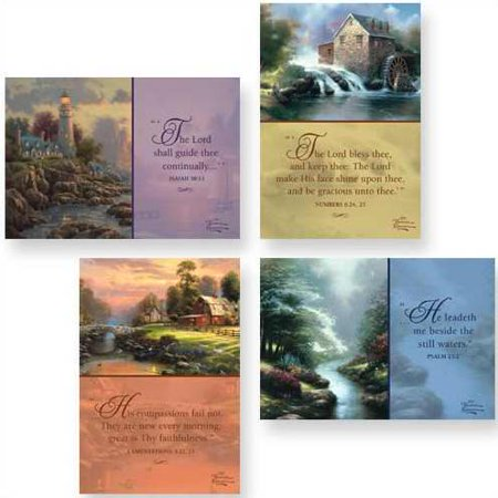 DaySpring Praying for You Greeting Card with Embossed White Envelopes, 12 Count, Thomas Kinkade/Painter of Light/KJV Scripture Verses (83159)](Happy Halloween Card Verse)