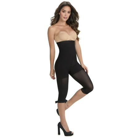ShapEager Women's Body Shaper Seamless Shaper Butt-Lift High Panty Capri Slimming Firm Control Shapewear Body Briefer Faja Moldeadora - Panty Body Briefer