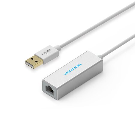 Network Adapter USB2.0 External Network Card to 10/100Mbps RJ45 Ethernet Adapter Compatible with Laptop and Desktop 15cm White Laptop Ethernet Card