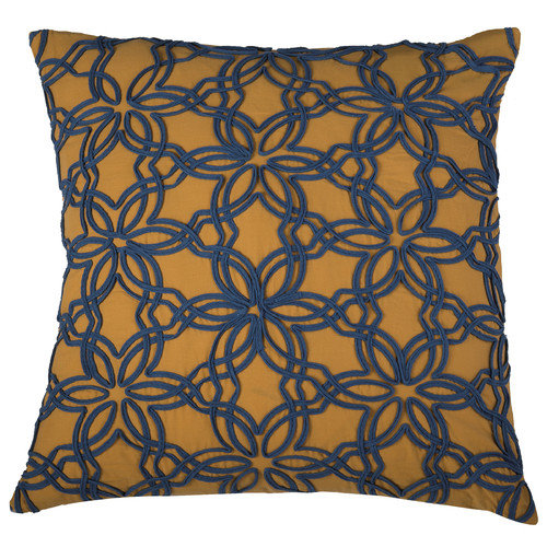 Rizzy Home Applique of Cotton Ribbon Detailing Decorative Throw Pillow