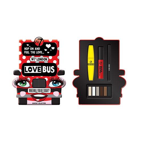 W7 London Love Bus 4 Piece Makeup Collection
