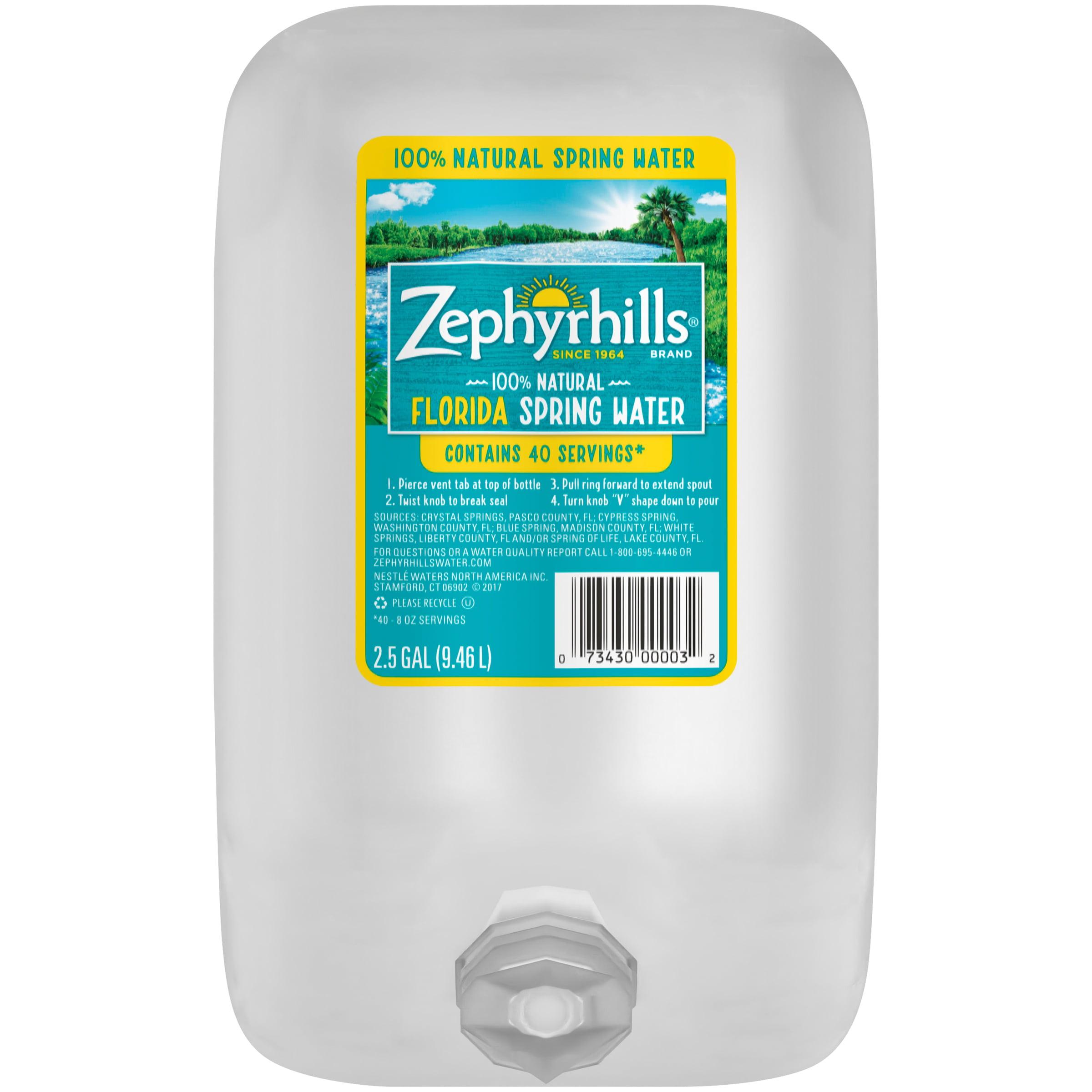 Zephyrhills Sports Bottle: Zephyrhills Natural Spring Water, 2.5 Gal. Bottle