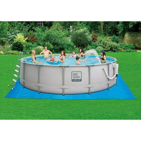 Summer escapes 16 39 x 48 metal frame above ground swimming - Walmart above ground swimming pools ...