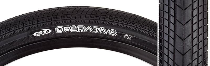 CST Czar Comp Tire Black Grey 700x25c Clincher Road Race Fixed Gear Bike