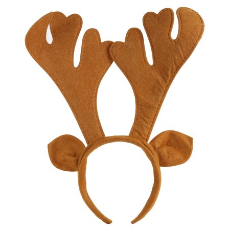 Christmas Party Decoration Gift Brown Ear Antlers Deer Horn Headband Headwear - Christmas Head Wear