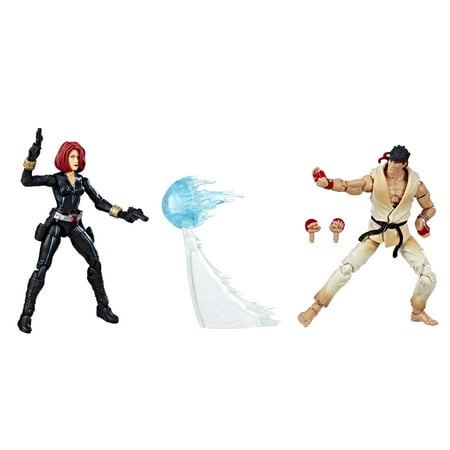 Marvel Gamerverse Marvel vs. Capcom Black Widow vs. Ryu 2-pack (The Black Cat Marvel)