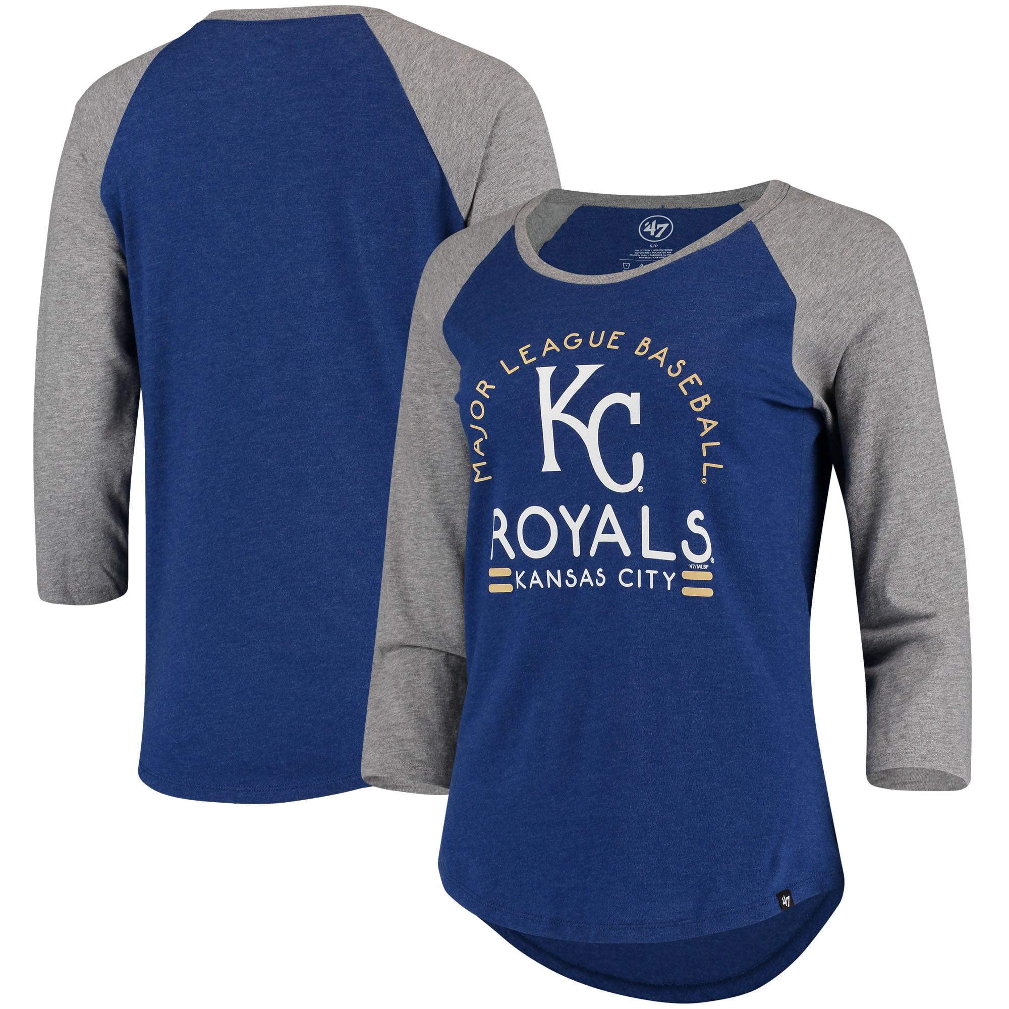 Kansas City Royals '47 Women's Club 3/4-Sleeve Raglan T-Shirt - Royal