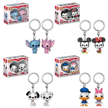 Dalmatian Keychain - Funko Pocket POP! Keychains - Disney 2-Packs - SET OF 4 (Mickey, Stitch, Dalmatians & More)