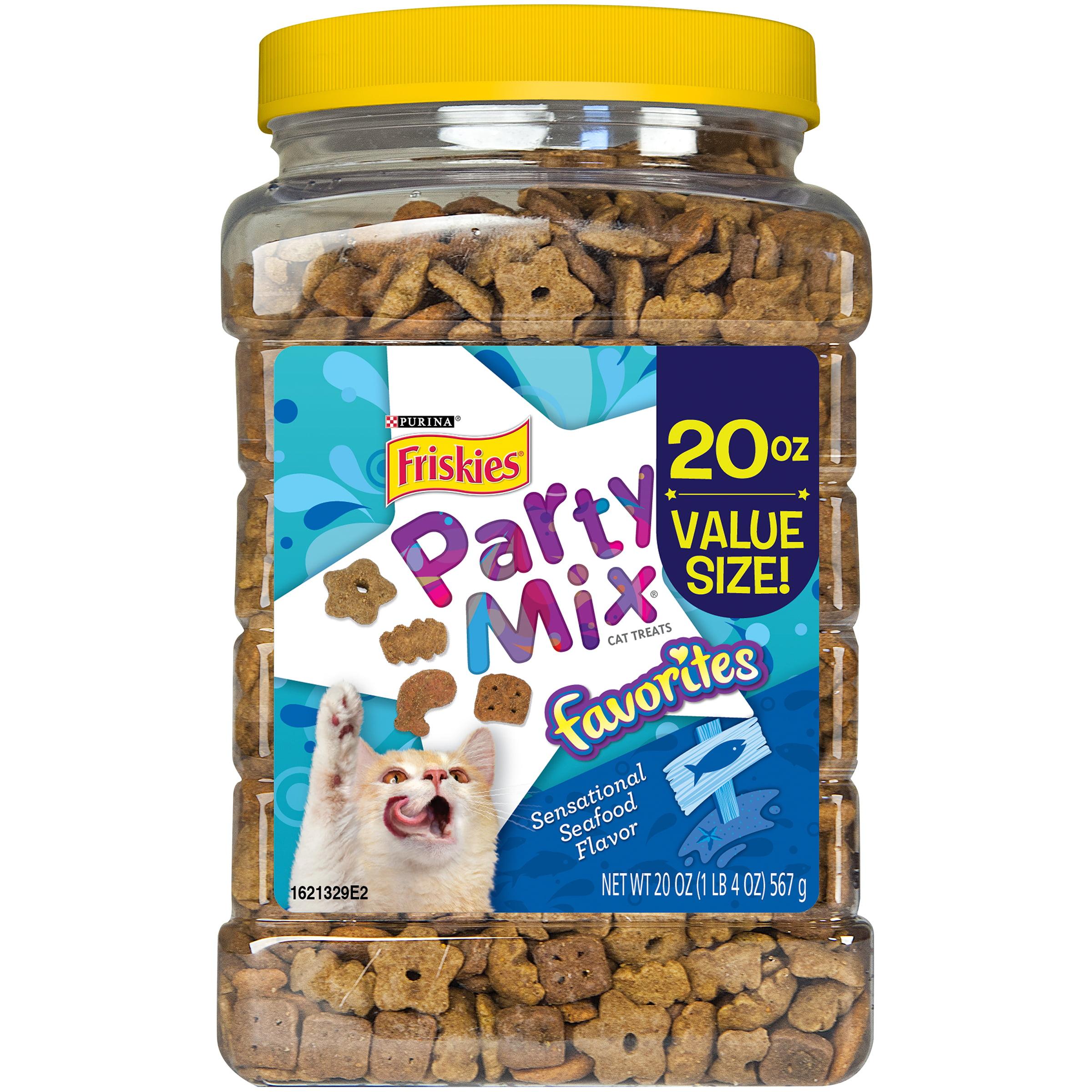 Purina Friskies Party Mix Favorites Sensational Seafood Flavor Dry Cat Treats, 20 Oz. by Nestle Purina