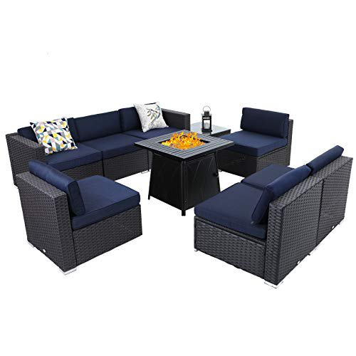 Sophia William Patio Furniture, Outdoor Furniture With Gas Fire Pit Table