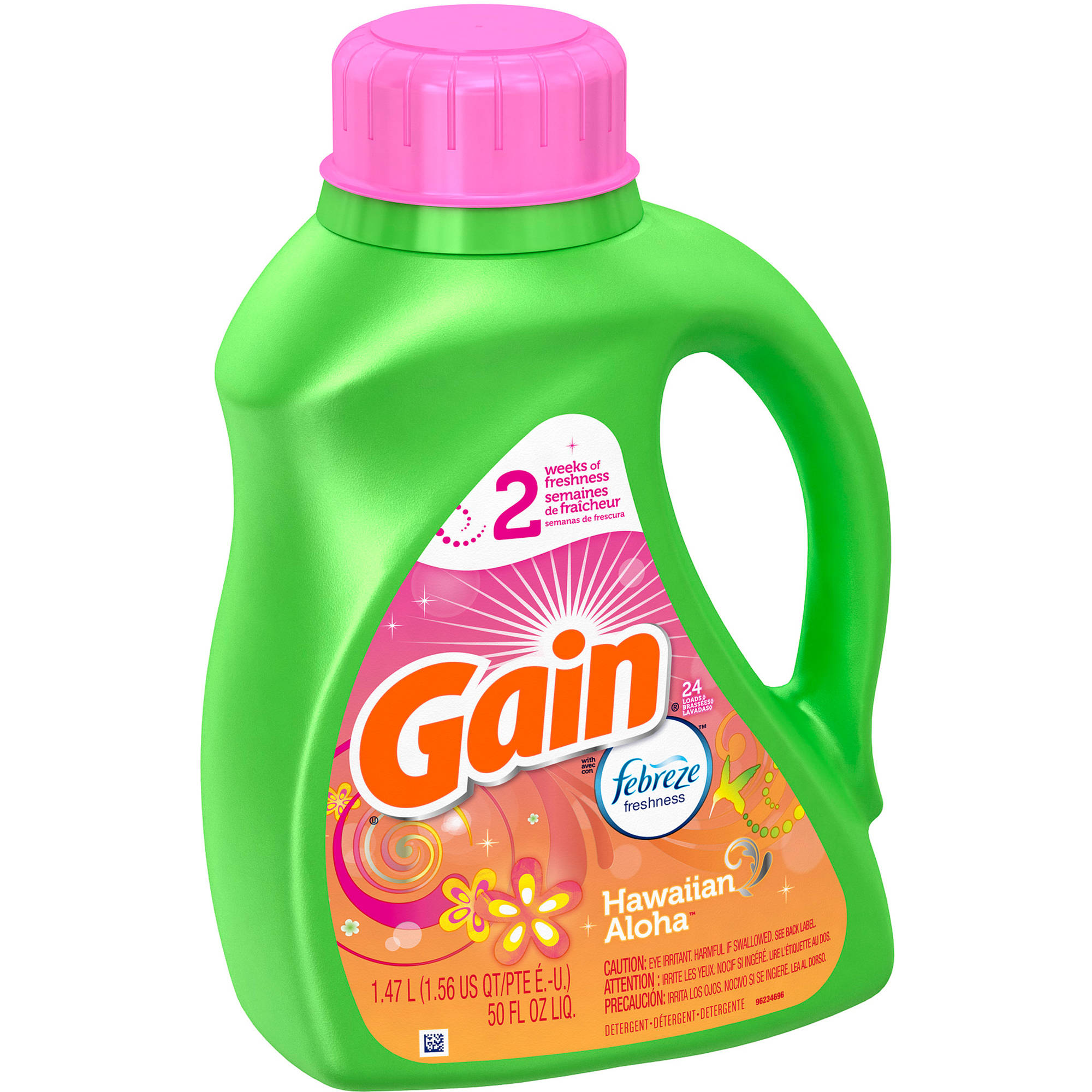 Gain Liquid Laundry Detergent, Hawaiian Aloha, 24 Loads, 50 fl oz