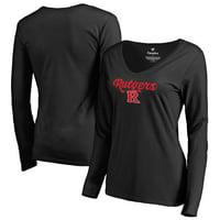 Rutgers Scarlet Knights Fanatics Branded Women's Freehand Long Sleeve T-Shirt - Black