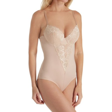 39cbc3506db9b Heavenly Secrets Shapewear - Women s Heavenly Secrets Shapewear 4362 Molded  Cup Bodysuit with Lace Overlay - Walmart.com