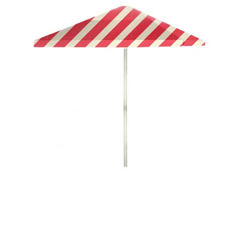 Image of Best of Times 1020W2114-P Candy Striper 6 ft. Square Market Umbrella, Peppermint
