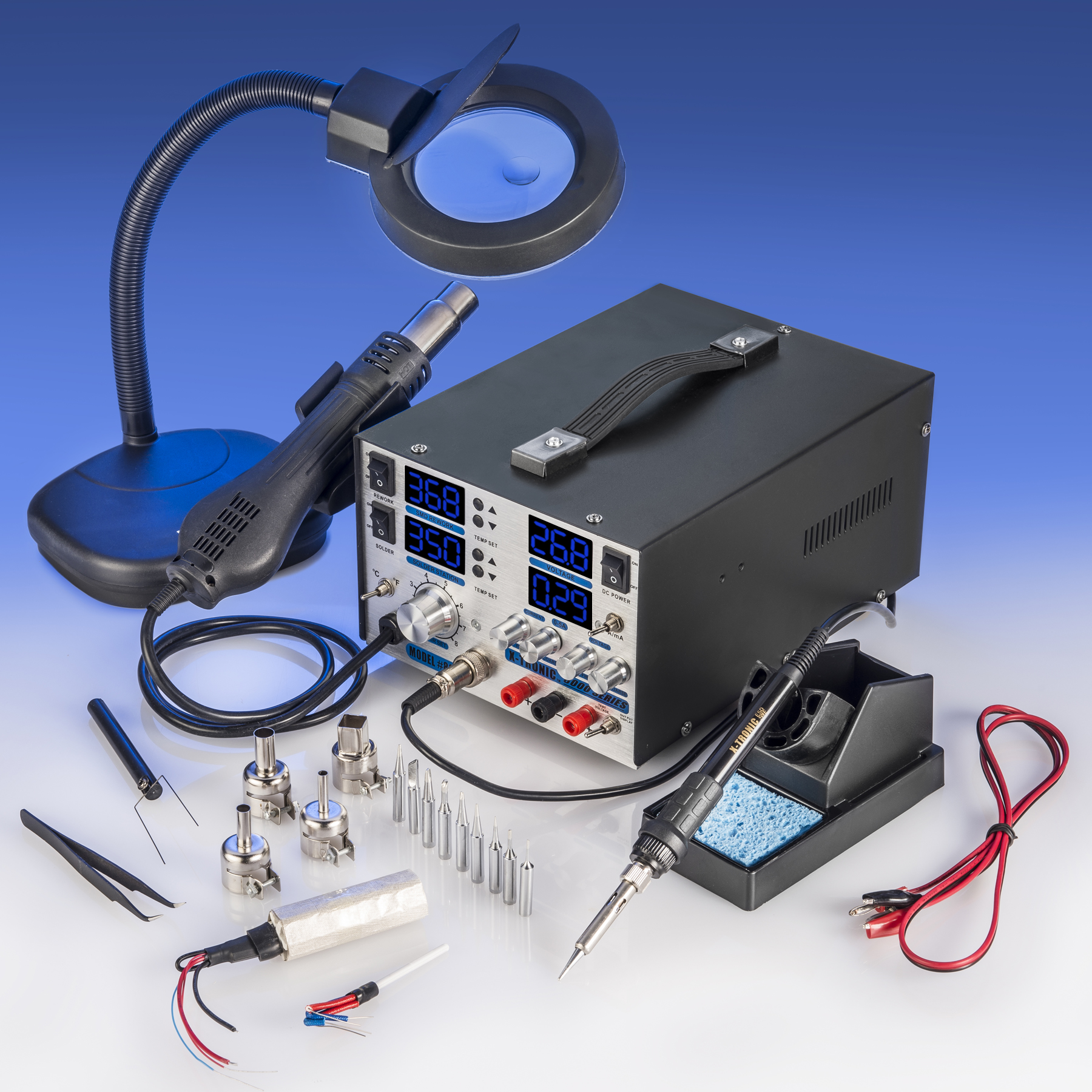 "X-Tronic Model #8080-XTS ""4 In 1"" Hot Air Rework Soldering Iron Station and DC... by X-Tronic International, Inc."