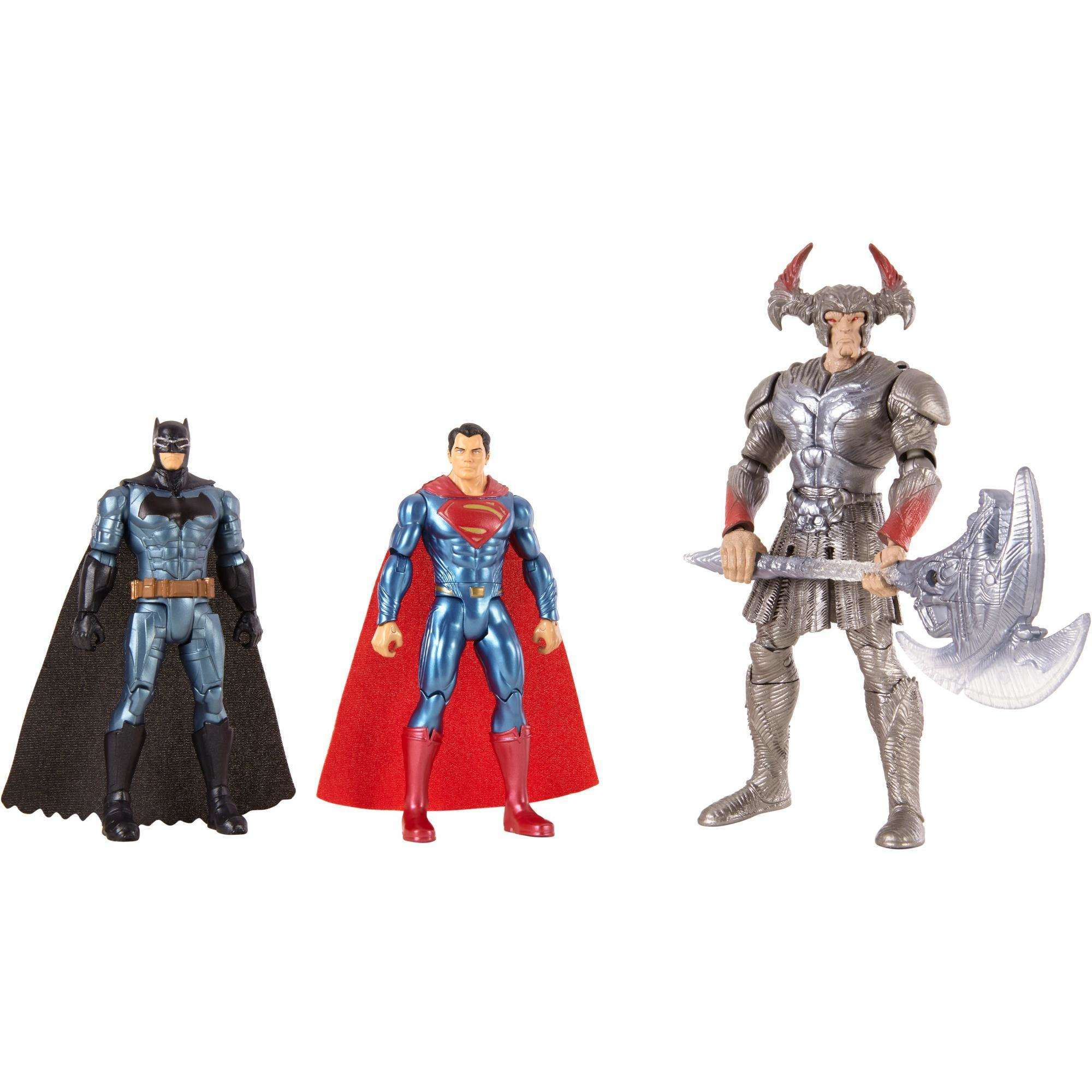 DC Justice League Batman, Steppenwolf, Superman 3-Pack Figures