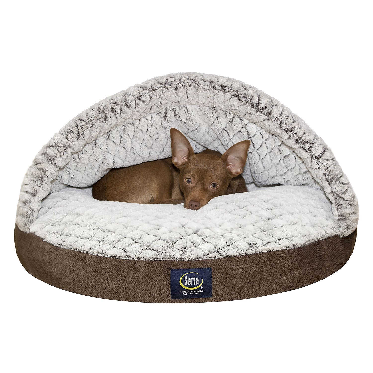 Serta Ultra Comfort Canopy Pet Bed Brown 25  sc 1 st  Walmart & Serta Ultra Comfort Canopy Pet Bed Brown 25 - Walmart.com