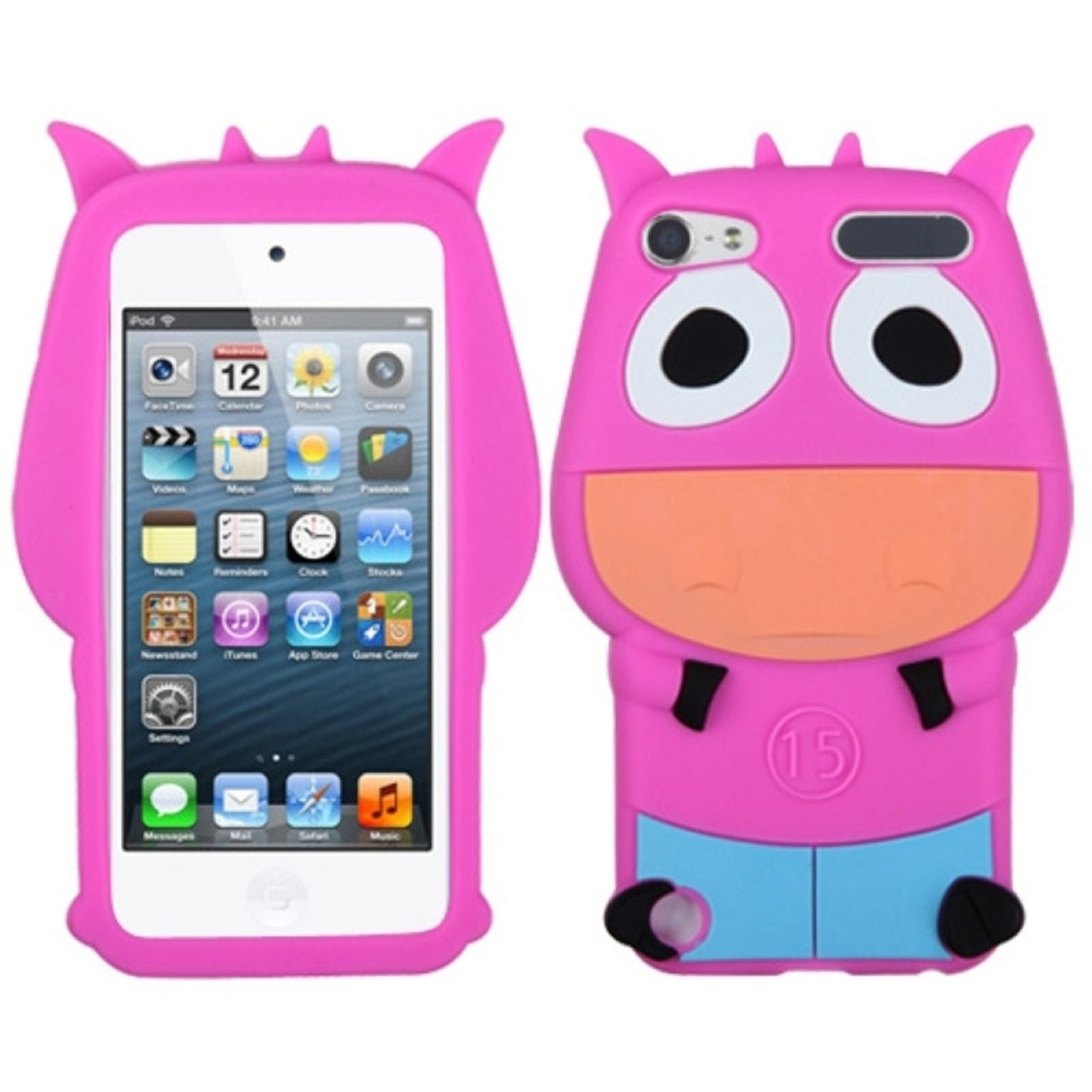 Insten Hot Pink Cow Pastel Skin Case for iPod touch (5 5G 5th 6 6G 6th Gen)