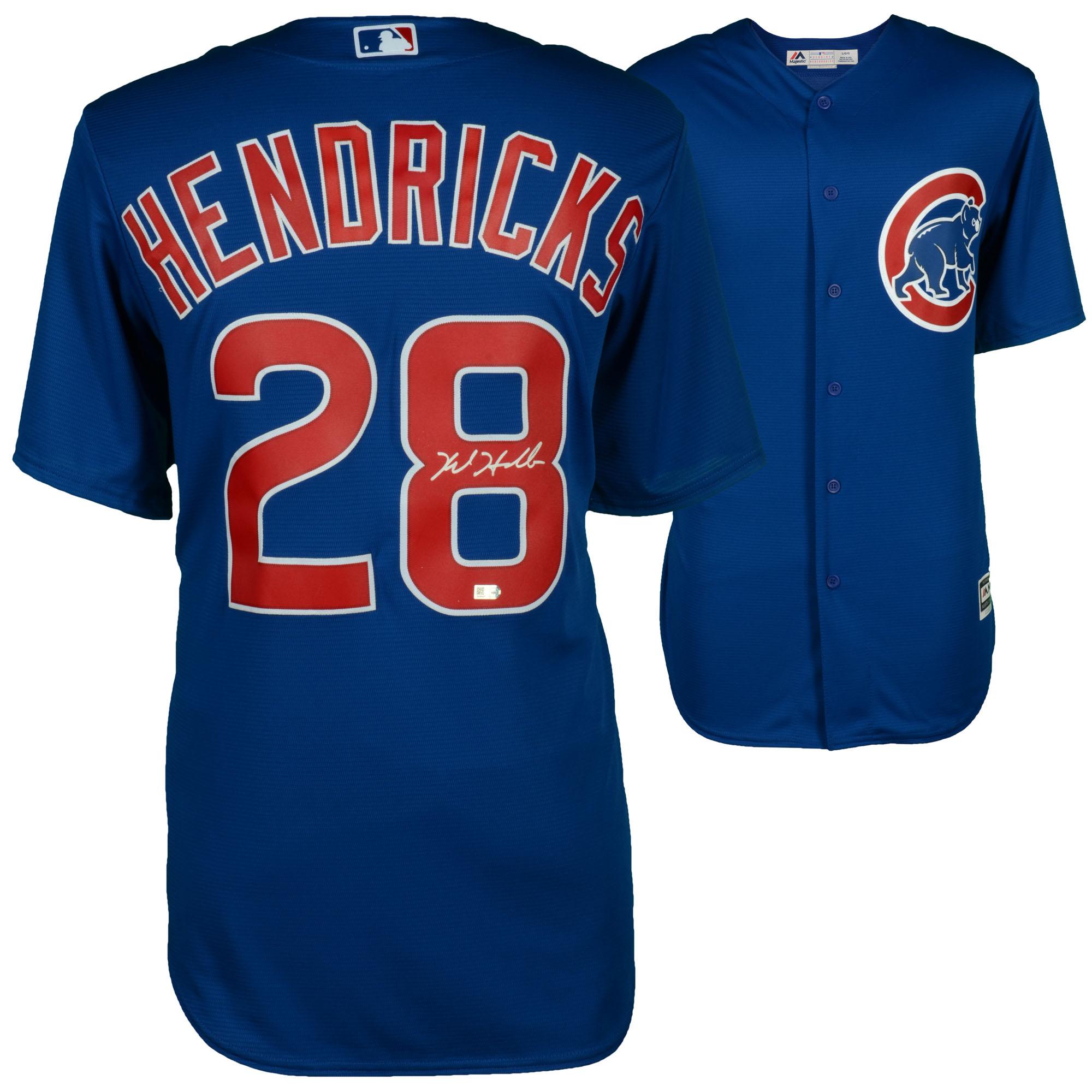 Kyle Hendricks Chicago Cubs Fanatics Authentic Autographed Majestic Blue Replica Jersey - No Size