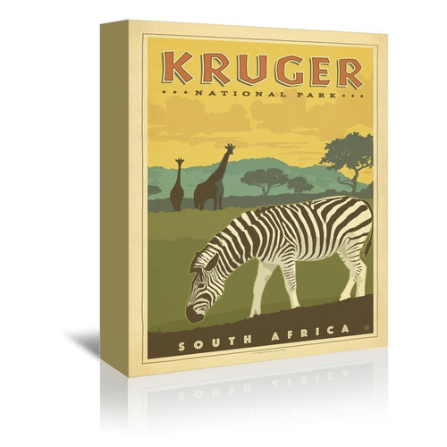 East Urban Home Kruger National Park Vintage Advertisement on Gallery Wrapped Canvas