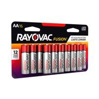 Rayovac Fusion Premium Alkaline, AA Batteries, 16 Count