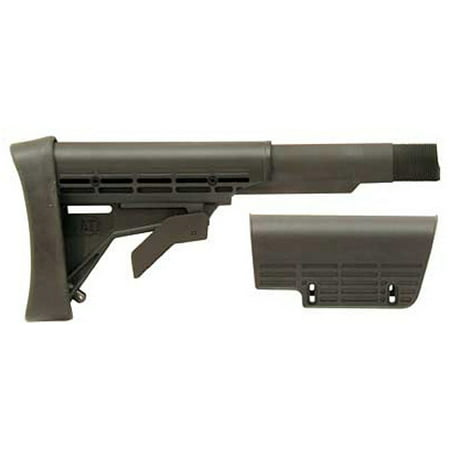 Image of Advanced Technology Strikeforce AR-15 Stock, Collapsible Butt stock and Pistol Grip with Commercial Buffer Tube, Spring, Buffer, Locking Ring and Nut in Black