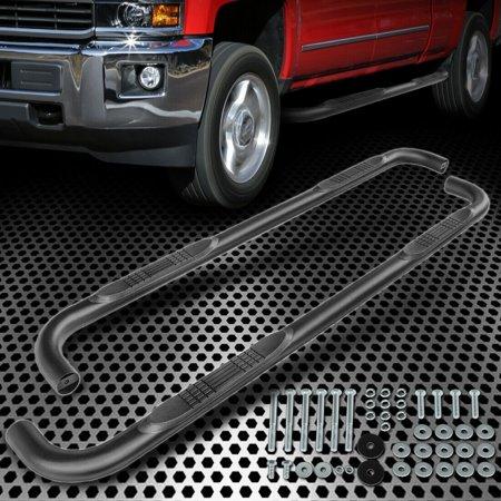 FOR 1999-2018 CHEVY SILVERADO CREW CAB OVAL BLACK SIDE STEPS NERF BAR RUNNING BOARD ()