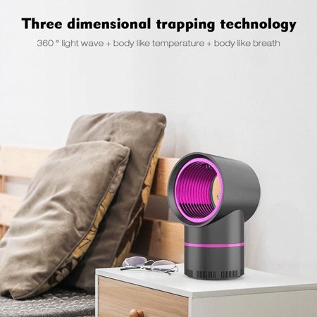 LED Electric Mosquito Killer Lamp Indoor Outdoor Trap No Noise No Radiation USB Power Supply, Suction Fan,Photocatalytic UV Light - image 5 of 7