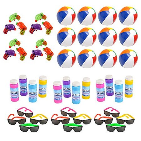Kids Toys In Bulk (Mega Pool Party and Beach Party Favors - Summer Fun Toy Mega Assortment Bulk Pack of 48 Kids Toys Includes - Kids Sunglasses)
