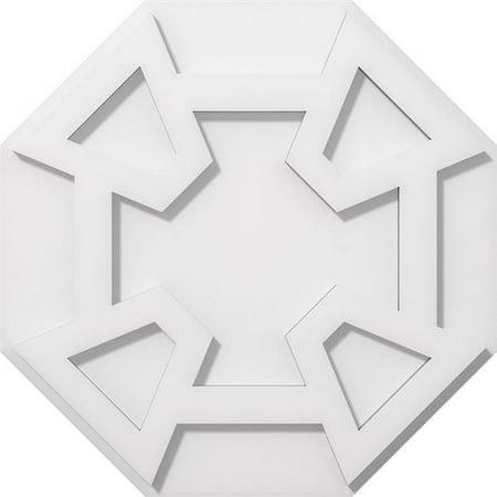 Ekena Millwork CMP16LG 16 in. OD x 5.5 in. Square Logan Architectural Grade PVC Contemporary Ceiling Medallion - image 1 de 1