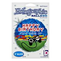 Betallic Holographic Balloon Happy Birthday, 1.0 CT