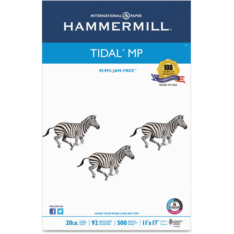 Hammermill Tidal Multipurpose Copy Paper, Ream of 500 Sheets