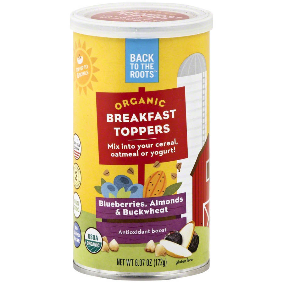 Back to the Roots Blueberries, Almonds & Buckwheat Organic Breakfast Toppers, 6.07 oz, (Pack of 6)