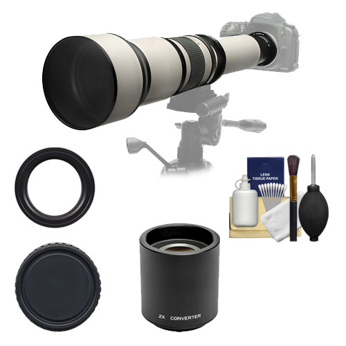 Rokinon 650-1300mm f/8-16 Telephoto Zoom Lens with 2x Tel...