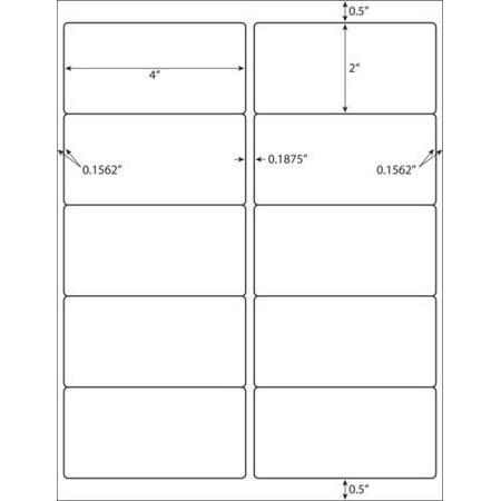 Foil Sheeted Address Labels - 1000 Address Shipping Labels Laser Ink Jet 10 Per Sheet 4