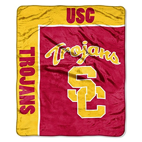USC Southern Cal Trojans 50x60 NCAA School Spirit Royal Plush Raschel Throw