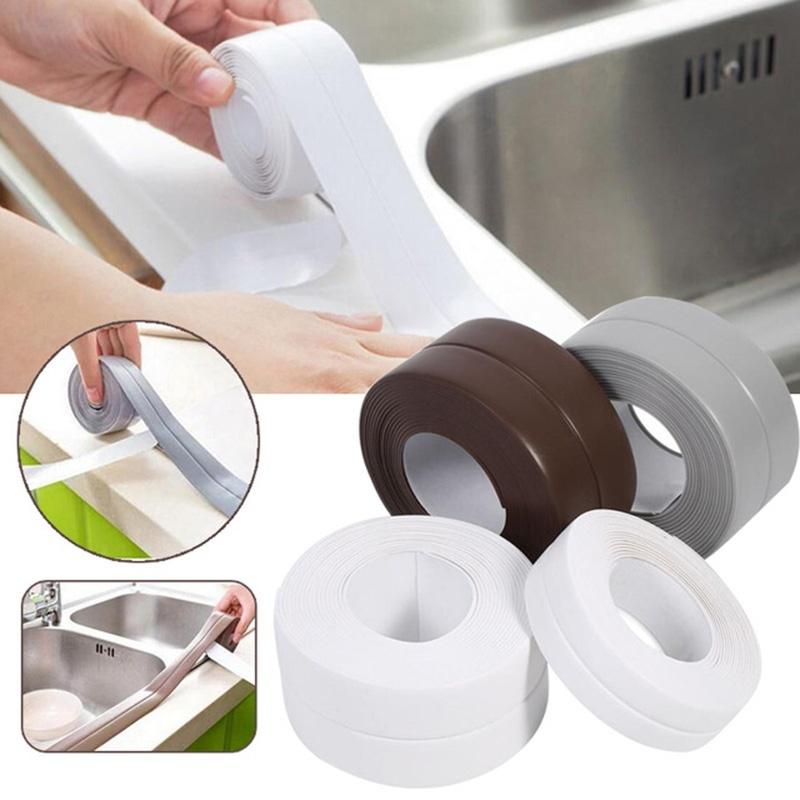 Clear Polycell Bath Shower Kitchen Toilet Wall Sealing Sealant Strips Caulk Tape