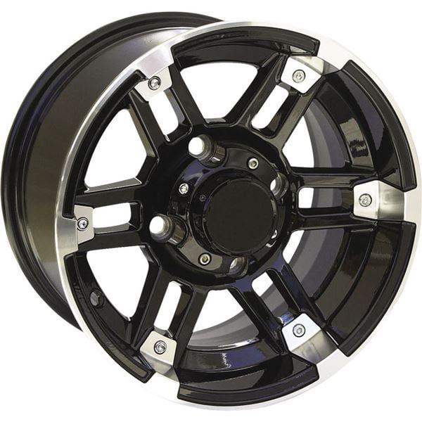 Black w/Machined 12x7, 4/110, 2+5 Ocelot One Zero Four Wheel - 12X7 4/110 2+5