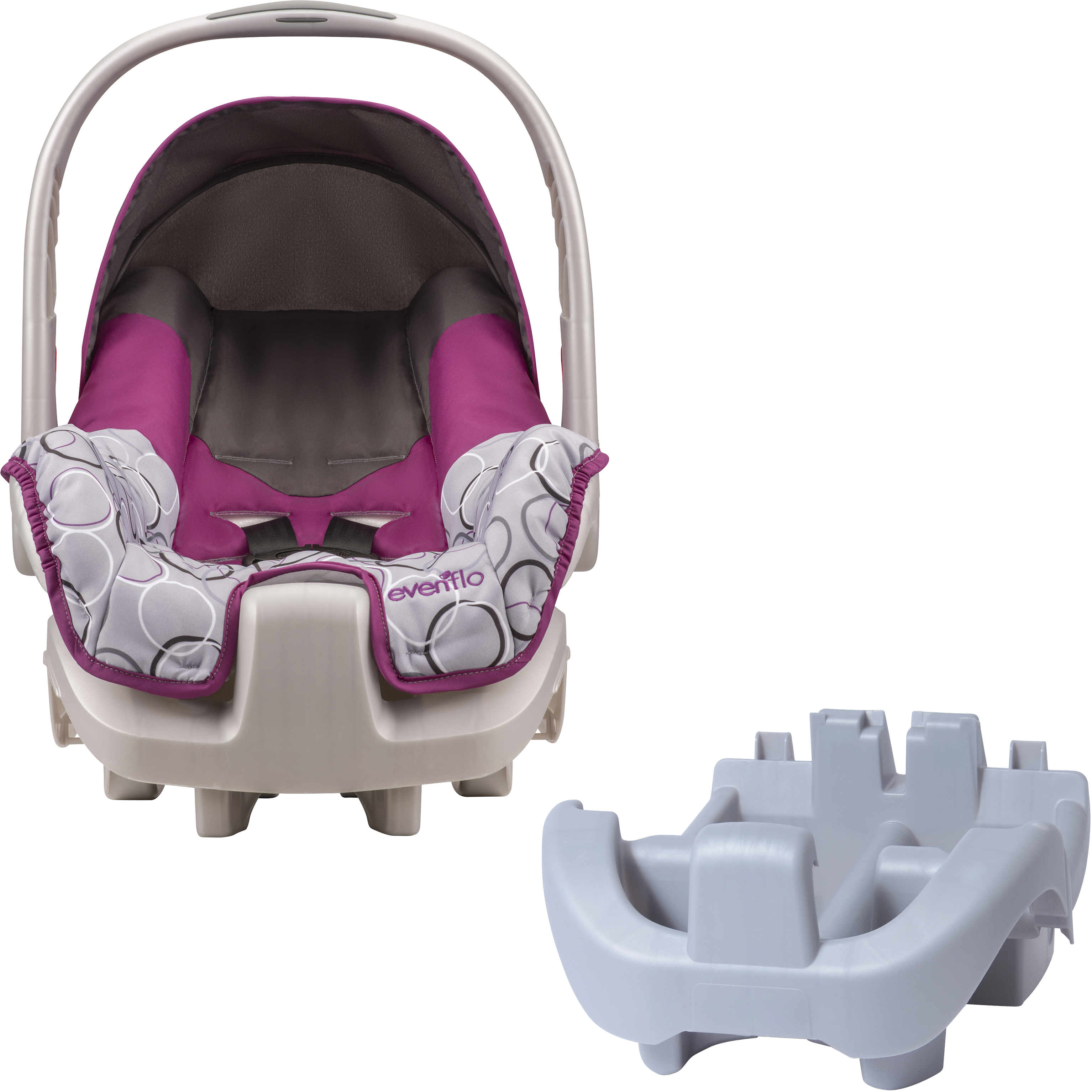 Evenflo Nurture Infant Car Seat, Ali, with BONUS Nurture Car Seat Base